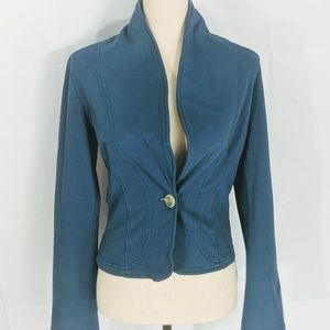 Krisa Blazer, Teal, Cotton large